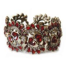 1940s Vintage Garnet Red Crystal Bracelet