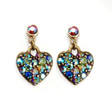 Aurora Crystal Hearts Earrings