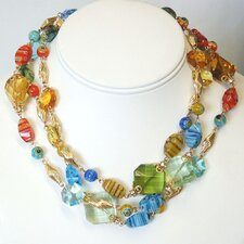 Candy Glass and Crystal Prisms Necklace