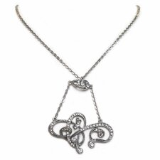 <strong>Sweet Romance</strong> Nouveau Riche Crystal Lavaliere Necklace