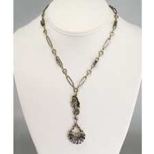 Seahorse and Deco Shell Necklace