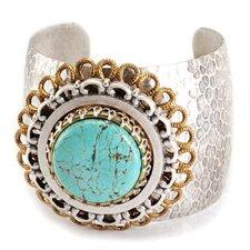 Matrix Medallion Turquoise Cuff Bracelet