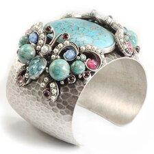 Tang Butterfly Gemstone Cuff Bracelet