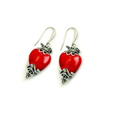 Sacred Hearts Drop Earrings