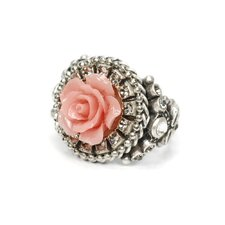 Carved Rose Ring