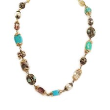 Garden Gemstone Short Neck Necklace