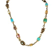 Garden Gemstone Long Neck Necklace