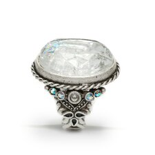 Intaglio Sparkle Crystal Ring