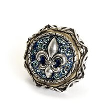 French Quarter Fleur De Lis Crystal Ring
