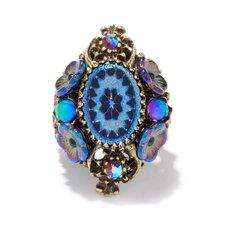 Vintage Peacock Pinwheel Ring