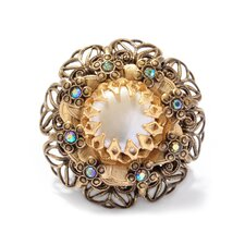 Rose Flower Cultured Pearl Ring
