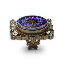 Vintage Peacock Pinwheel Crystal Ring