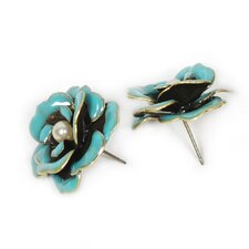 <strong>Sweet Romance</strong> Enamel Roses Stud Earrings