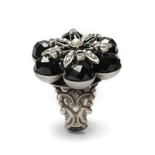 Faceted Flower Crystal Ring