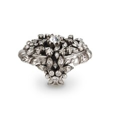 Trellis Round Cut Crystal Ring