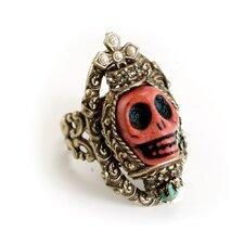 Skull Queen Gemstone Ring