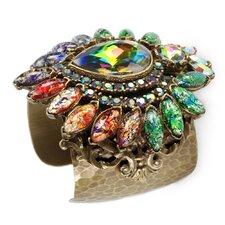 Vintage Opal Glass Cuff Bracelet