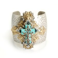 Cross Turquoise Cuff Bracelet