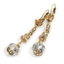 <strong>Sweet Romance</strong> Luster Crystal Drop Earrings