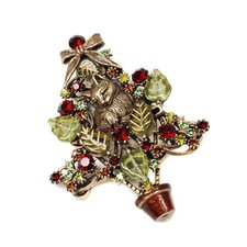 Christmas Tree Kitten Among the Branches Pin