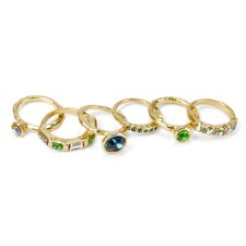 Crystal Stackable Ring (Set of 6)