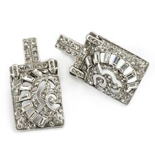 <strong>Sweet Romance</strong> Deco Marquee Crystal Earrings