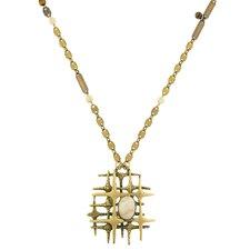 Modern Jasper Pendant Necklace