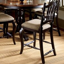 "Haven 25"" Bar Stool with Cushion (Set of 2)"