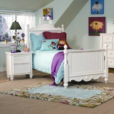 <strong>Legacy Classic Furniture</strong> Summer Breeze Scroll Top Low Panel Bedroom Collection