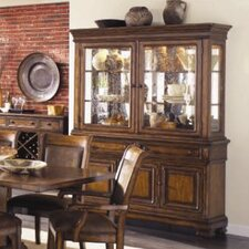 Larkspur China Cabinet in Distressed Burnished Caramel