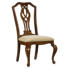 Evolution Pierced Splat Back Fabric Side Chair