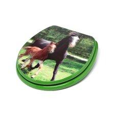 3D Series Horses Round Toilet Seat