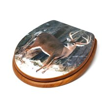 3D Upland Series Deer Round Toilet Seat