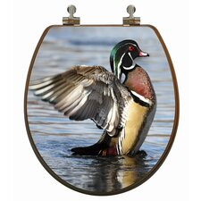 3D Upland Series Wood Duck Round Toilet Seat