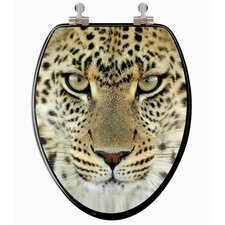 3D Series Leopard Head Elongated Toilet Seat
