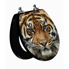 3D Series Tiger Round Toilet Seat