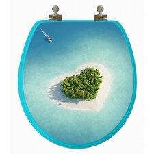3D Series Beach Round Toilet Seat