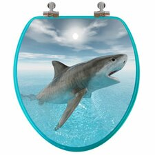 3D Ocean Series Shark Elongated Toilet Seat