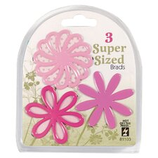 Flower Supersized Brad (Set of 3)