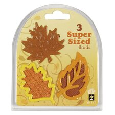 Fall Leaves Supersized Brad (Set of 3)