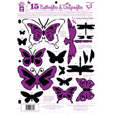 Butterflies and Dragonflies Template