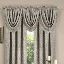 "Sutton Pleated Waterfall 52"" Curtain Valance"