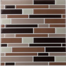 Magic Random Sized Gel Glazed Mosaic in Piano Coffee / Beige