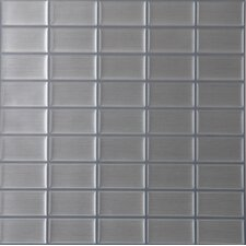 Magic Gel Glass Glazed Mosaic in Stainless Steel