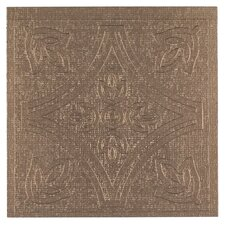"Metallo 4"" x 4"" Vinyl Tile in Copper"