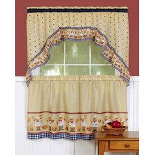 Cucina Rod Pocket Swag Valance and Tier Set