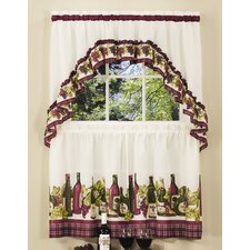 "Chardonnay 57"" Valance and Tier Set"