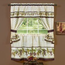 <strong>Achim Importing Co</strong> Tuscany Cottage Valance and Tier Set