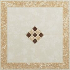 "Nexus 12"" x 12"" Vinyl Tile in Ceramic Rose and Cream"
