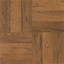 "Nexus 12"" x 12"" Vinyl Tile in Medium Oak Parquet"